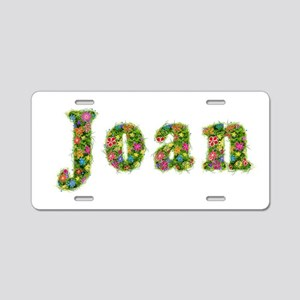 Joan Floral Aluminum License Plate