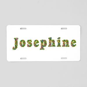 Josephine Floral Aluminum License Plate