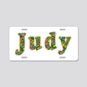 Judy Floral Aluminum License Plate
