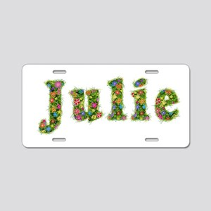 Julie Floral Aluminum License Plate
