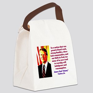 In A Nation That Was Proud - Jimmy Carter Canvas L