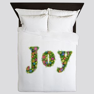 Joy Floral Queen Duvet