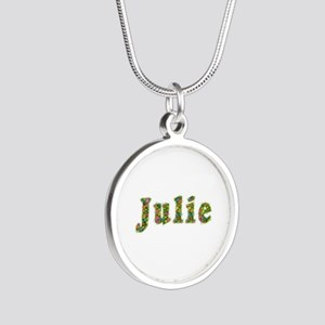 Julie Floral Silver Round Necklace