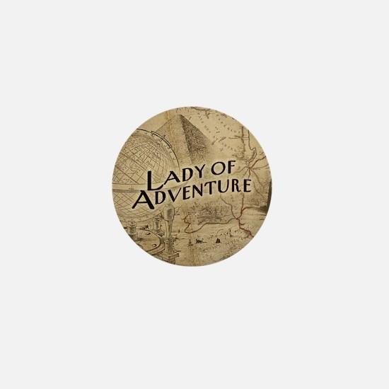 Lady Of Adventure Mini Button