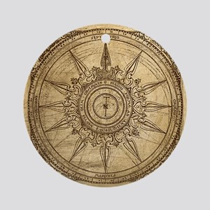 Old Compass Rose 2 Ornament (Round)