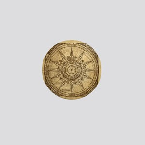 Old Compass Rose 2 Mini Button
