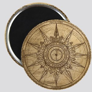 Old Compass Rose 2 Magnet