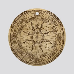 Old Compass Rose 4 Ornament (Round)