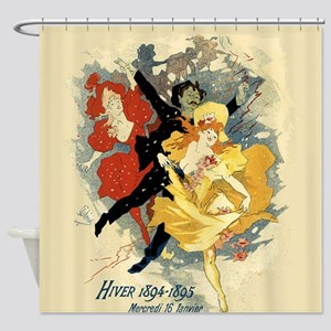 Vintage Dance Hall Poster Art Shower Curtain