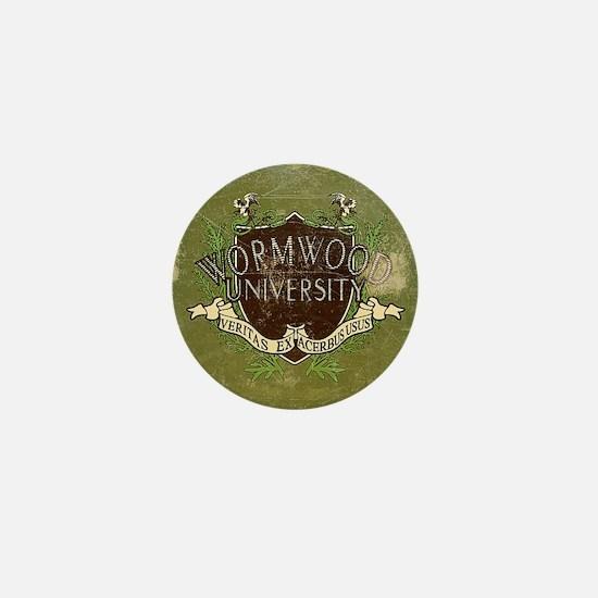 Worn Wormwood University Mini Button