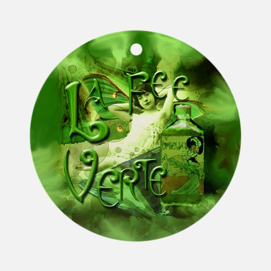 La Fee Verte Collage Ornament (Round)