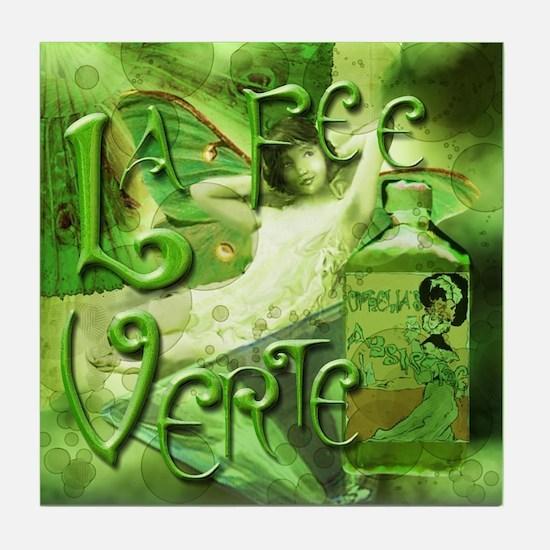 La Fee Verte Collage Tile Coaster