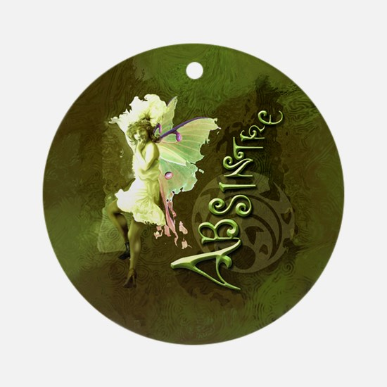 Absinthe Collage Ornament (Round)