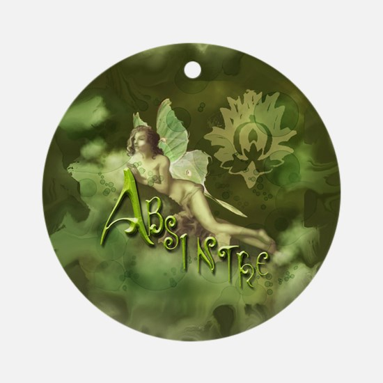 Absinthe Fairy Collage Ornament (Round)