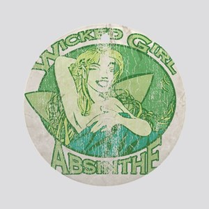 Vintage Wicked Girl Absinthe Ornament (Round)