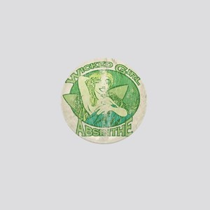 Vintage Wicked Girl Absinthe Mini Button