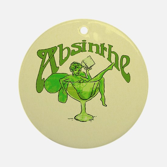 Fairy In Glass Absinthe Ornament (Round)