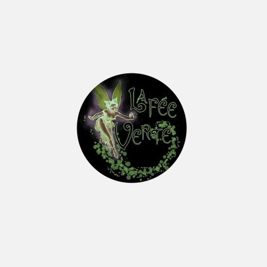 Dark Absinthe Fairy Mini Button