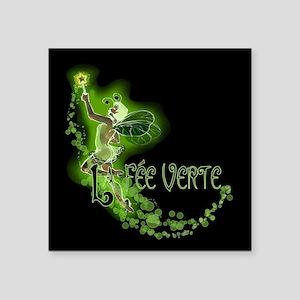 """Dark Absinthe Fairy Flying Square Sticker 3"""" x 3"""""""