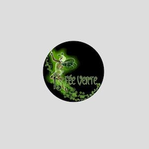 Dark Absinthe Fairy Flying Mini Button
