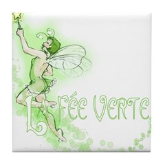 Absinthe Fairy Flying Tile Coaster