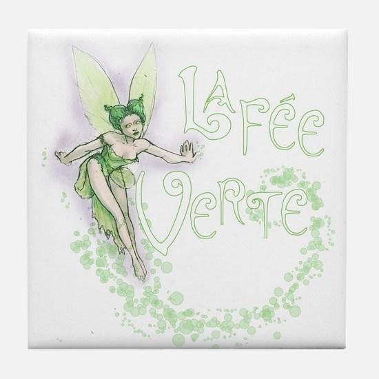 Absinthe Fairy Flitting Tile Coaster