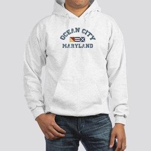 Ocean City MD - Nautical Design. Hooded Sweatshirt