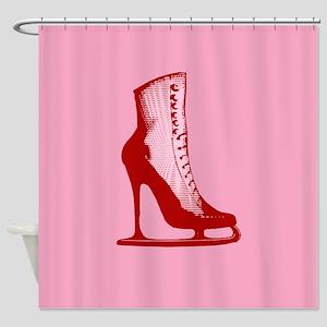 High Heel Ice Skate Shower Curtain
