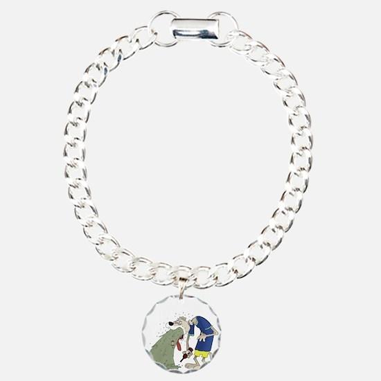 Vomiting dog.png Charm Bracelet, One Charm