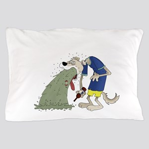 Vomiting dog Pillow Case