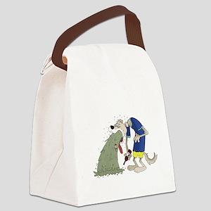 Vomiting dog Canvas Lunch Bag