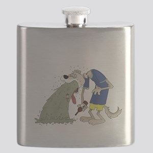 Vomiting dog Flask