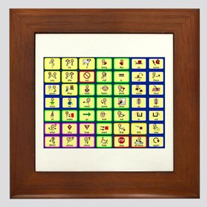 7 by 7 Core Word Communication Board - AAC Framed