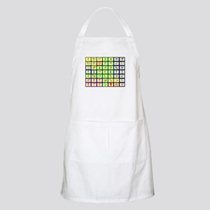 7 by 7 Core Word Communication Board - AAC Apron