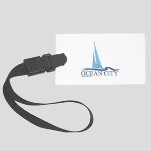 Ocean City MD - Sailboat Design. Large Luggage Tag