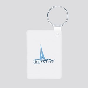 Ocean City MD - Sailboat Design. Aluminum Photo Ke