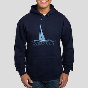Ocean City MD - Sailboat Design. Hoodie (dark)