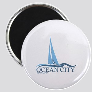 Ocean City MD - Sailboat Design. Magnet