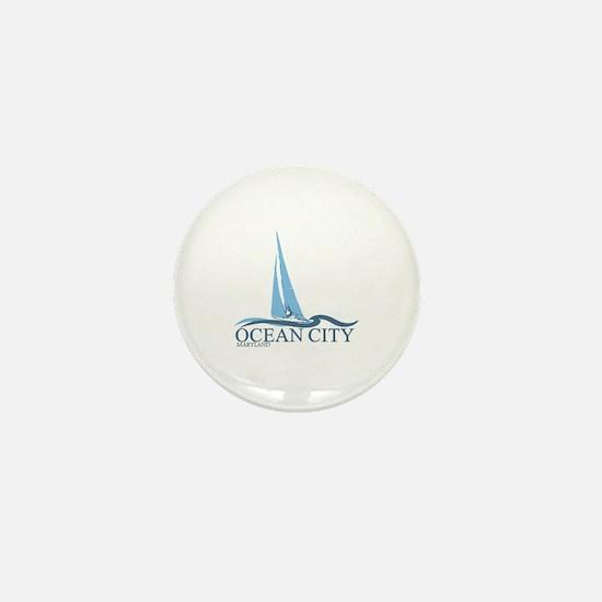 Ocean City MD - Sailboat Design. Mini Button