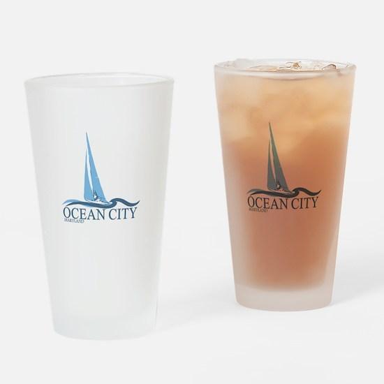 Ocean City MD - Sailboat Design. Drinking Glass