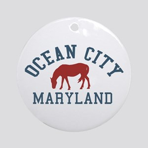 Ocean City MD - Ponies Design. Ornament (Round)