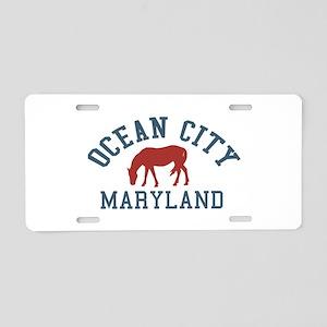 Ocean City MD - Ponies Design. Aluminum License Pl