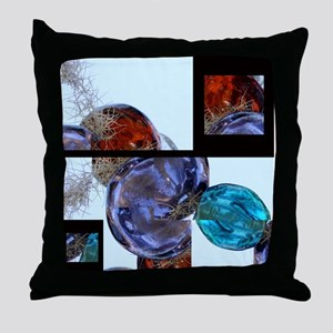 Layers of Glass Baubles Throw Pillow