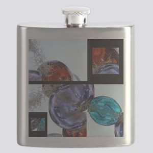 Layers of Glass Baubles Flask