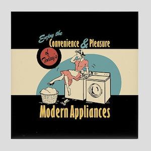 Retro Modern Appliances Tile Coaster
