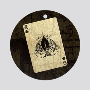 Ace Of Spades Ornament (Round)