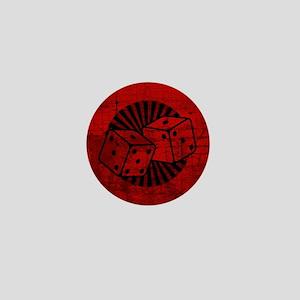 Retro Red Dice Mini Button