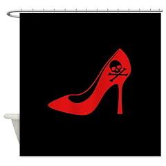 Evil High Heel Shoe Shower Curtain