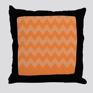 Orange And White Stripes Throw Pillow