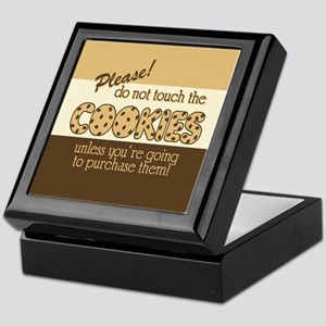 Retro Don't Touch The Cookies Keepsake Box
